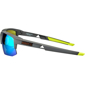 100% Speedcoupe Brille soft tact cool grey/multilayer mirror